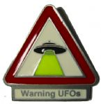 Warning UFOs Pin Badge